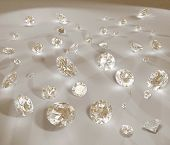Diamond jewel high resolution image
