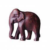 Wooden elephant statuette