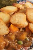 image of rutabaga  - Lancashire Hotpot traditionally made from lamb topped with sliced potatoes - JPG