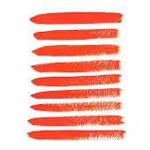 Orange acrylic vector brush strokes