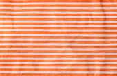 Crumpled Paper With Orange Stripes