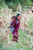 Gurung children, Nepal