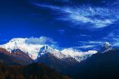 Machapuchare and Annapurna range, Nepal