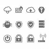 Computer network icon set