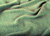 Green Crumpled Luxury Cashmere Background