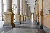 Karlovy Vary (carlsbad), Czech Republic  - December 8,2014: The Mill Colonnade In Karlovy Vary (carl