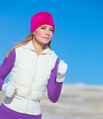 foto of sportive  - Jogging outdoors - JPG
