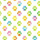 foto of animal footprint  - Seamless pattern with animal footprint texture - JPG
