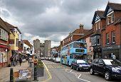 Canterbury, United Kingdom - Main Street And Gates.