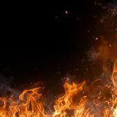 Beautiful stylish fire flames, close-up.
