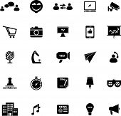 Media Marketing Icons On White Background