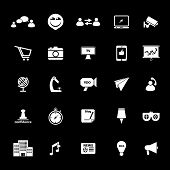 Media Marketing Icons On Gray Background