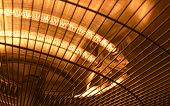 Electric heater closeup photo