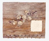 Old Brown Mulberry Paper Book Isolated