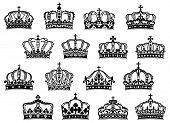 Royal or imperial crowns set