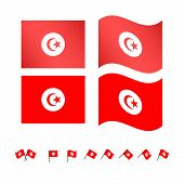 Tunisia Flags