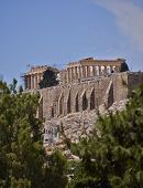 Parthenon temple on acropolis of Athens Greece