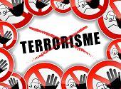 No Terrorism Concept Illustration