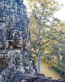 Bayon temple statue, Angkor, Siem Reap, Cambodia