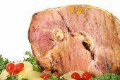 beautiful honey baked ham