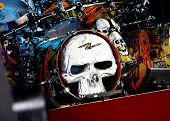 ZZ Top's Skeleton Drum Set