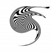 stock photo of distort  - Design monochrome movement illusion element - JPG