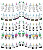 stock photo of rudder  - Nautical holiday bunting including  seahorse - JPG