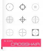 pic of crosshair  - Vector crosshair icons set on grey background - JPG