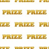stock photo of prize  - Vector word PRIZE repeated on white background - JPG
