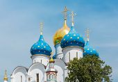 image of trinity  - Dormition Cathedral in the Trinity Lavra of St - JPG