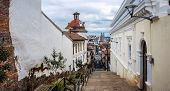 picture of andes  - Historical center of old town Quito in northern Ecuador in the Andes mountains - JPG