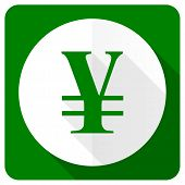 pic of yen  - yen flat icon   - JPG