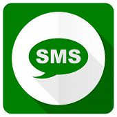 stock photo of sms  - sms flat icon message sign  - JPG