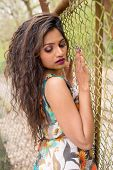picture of indian beautiful people  - portrait of a beautiful young indian woman posing - JPG