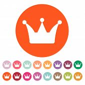stock photo of crown  - The crown icon - JPG