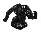 picture of habilis  - stylish black blouse with lace on the move isolated on white background - JPG