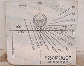 picture of sundial  - details of a sundial - JPG