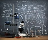 image of tubes  - Chemistry laboratory concept - JPG