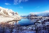 picture of reining  - snow in Reine Village - JPG