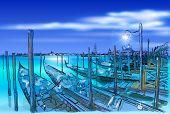 picture of gondola  - Venice - JPG