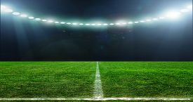 picture of football pitch  - On the stadium - JPG