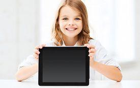 picture of little school girl  - education - JPG