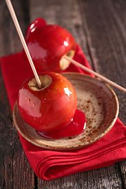 stock photo of toffee  - toffee apple - JPG