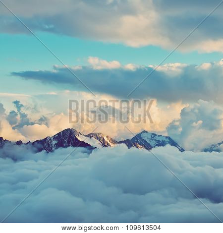 Marvelous mountain range vector images