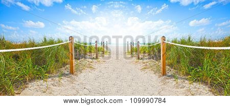 Beach path in Miami BEach Florida