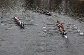 Boston - October 24: Middlebury And Tufts University Women's Crew Compete In The Head Of The Charles