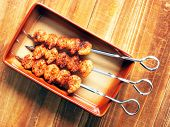 spicy grilled shrimp poster