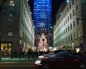 A Holiday Light Display At Rockefeller Center #4