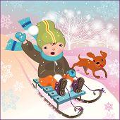 Постер, плакат: Зимний пейзаж