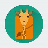 Постер, плакат: Giraffe Baby Animal Icon